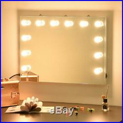 12 Bulb Hollywood LED Vanity Mirror Dimmable Light Makeup Dressing Lamp Tabletop