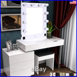 15 Design Large Hollywood Makeup Mirror w LED Bulb Light Tabletop Vanity Mirror