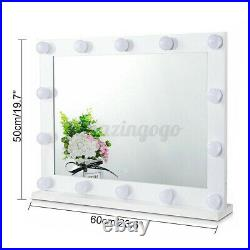23.6 Large Hollywood Lighted Makeup Mirror with 14 Dimmable LED Vanity Lights