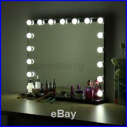 23'' Blk Hollywood Makeup Vanity Mirror LED Light Dimmer Cosmetic Beauty Stage