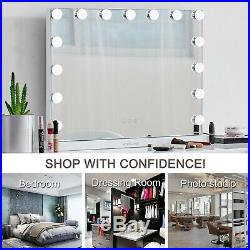 23L Hollywood Makeup Vanity Mirror with Light Stage Large Beauty Mirror White