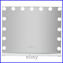 23inch Hollywood Makeup Mirror with 15 LED Bulbs Cosmetic Vanity USB Charging