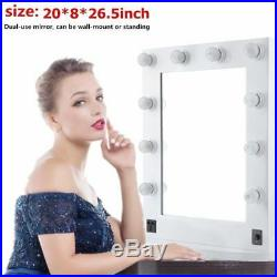 26 Hollywood Makeup Vanity Mirror with Led Light Cosmetic Beauty Stage 10 Bulbs
