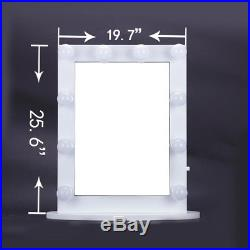 26White Hollywood Makeup Vanity Mirror With Light Dimmer Stage Beauty MirrorLED