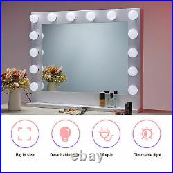 30 inch Hollywood Makeup Mirror with 14 Dimmable Vanity Light Stand and Mount