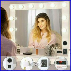 32 Hollywood Makeup Vanity Mirror Led Bulbs FM Bluetooth Speaker Remote Control