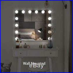 32 x 26 Large Hollywood Style Vanity Makeup Mirror With Lights Tabletop New