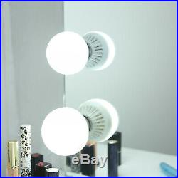 32L Hollywood Makeup Mirror Lighted Vanity Mirror with Bulb Tabletop or Wallmount