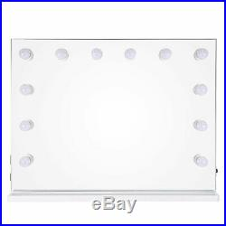 33x26 Large Hollywood Vanity Makeup Dressing Mirror 12 LED Tabletop Wall Mount