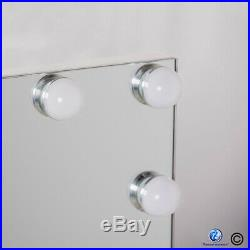 55x45CM FRAMELESS CRYSTAL Hollywood Table top vanity makeup mirror LED LIGHTS