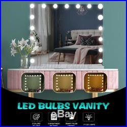 60CM Hollywood Tabletop Makeup Mirror With 17 LED Light Bulbs Vanity Lighted USA