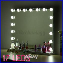 60CM Rechargeable Hollywood Makeup Mirror With 17 LED Light Bulbs Vanity Lighted