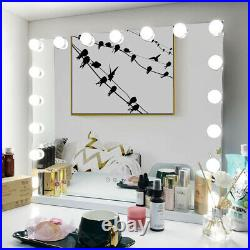 80x62cm Hollywood Makeup Vanity Mirror Lighted Beauty Mirror Dimmer 17 LED Bulbs