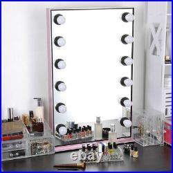 AW Lighted Hollywood Vanity Mirror 12pcs Dimmable LED Tabletop Wall Mount Makeup