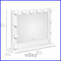 BCP Hollywood LED Vanity Mirror, Tabletop or Wall Mountable with 3 Color Temps