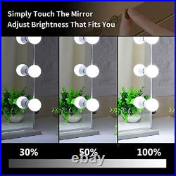 BEAUTME Hollywood Lighted Vanity Mirror with Lights, Big Tabletop Mirror with Led