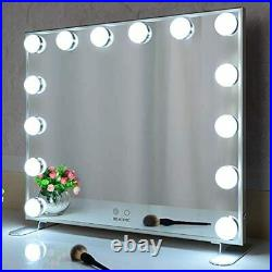 BEAUTME Hollywood Makeup Mirror with LED Lights, Touch Control Large Cosmetic Van