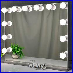 BEAUTME Hollywood Makeup Mirror with Lights, Large Frameless Vanity Mirror with
