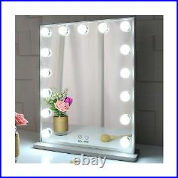 BEAUTME Hollywood Makeup Vanity Mirror with Lights, Bedroom Lighted Standing T