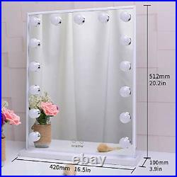 BEAUTME Hollywood Makeup Vanity Mirror with LightsBedroom Lighted Standing Ta
