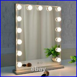 BEAUTME Hollywood Vanity Mirror with Lights, Dimmable Tabletop/Wall Cosmetic Mir