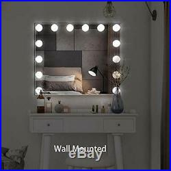 BEAUTME Hollywood Vanity Mirror with Lights, Lighted Makeup Dressing Tabletop or
