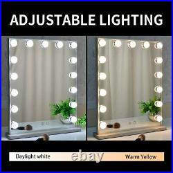 BEAUTME Hollywood Vanity Mirror with Lights SILVER