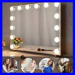 BEAUTME Vanity Mirror W Lights Hollywood Lighted Dimmer Bulbs Tabletop Or Wall M
