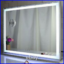 BEAUTME Vanity Mirror with LED Backlit Lights, Lighted Tabletop Hollywood Makeup
