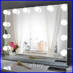 BEAUTME Vanity Mirror with Lights, Big Hollywood Mirror Tabletop Mirror with 10X