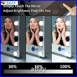 BEAUTME Vanity Mirror with Lights, Hollywood Lighted Mirror with Dimmer Bulbs, Tab
