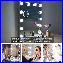 BEAUTME Vanity Mirror with Lights, Tabletop Wall Mounted Lighted Hollywood Mirror