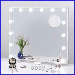BESTOPE Hollywood Mirror Large Vanity Mirror with LED Lights for Makeup 3 Light