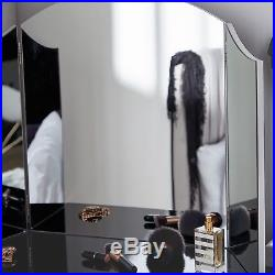 Beautify Large Trifold Hollywood Vanity Mirror with Folding Tabletop Design