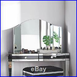 Beautify Large Trifold Hollywood Vanity Mirror with Folding Tabletop Hinged