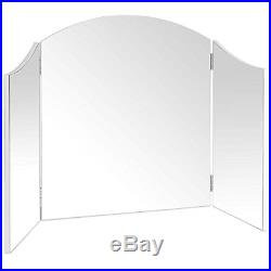 Beautify Large Trifold Hollywood Vanity Mirror with Folding Tabletop Hinged W41
