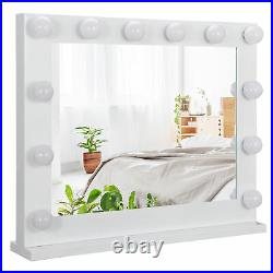 Beauty Mirror Dimmer White Hollywood Makeup Vanity Mirror with Light Stage Large