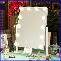 Best Choice Products Hollywood Vanity Mirror with Speaker, Adjustable Lights, Phon