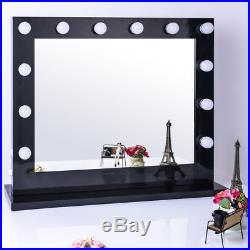 Black Hollywood Makeup Vanity Mirror with Light Large Stage Beauty Mirror OY