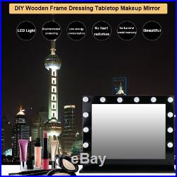 Black Hollywood Makeup Vanity Mirror with Light Large Stage Beauty Mirror US