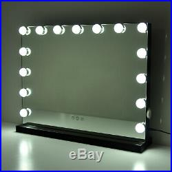 Black Hollywood Makeup Vanity Mirror with Light Stage Large Beauty Mirror 23L