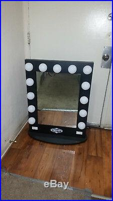 Black Hollywood Makeup Vanity Mirror with Ligth Dimmer Stage Beauty Dressing