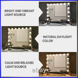 Bobening Hollywood Vanity Mirror with Bluetooth 360 Degree Rotation Lighted LED