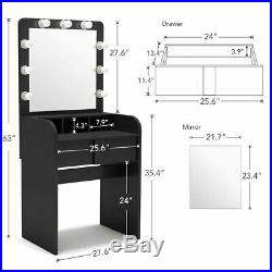 Brand New Hollywood Vanity 9 Led Bulbs Dressing Table Set Makeup Desk with Mirror