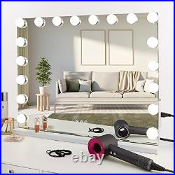 COOLJEEN Large Hollywood Makeup Mirror 18 LED Bulbs Vanity Mirror with Power USB
