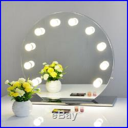 Chende Frameless Hollywood Makeup Vanity Mirror with Dimmer Round Stage Mirror