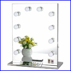 Chende Frameless Hollywood Tabletops Lighted Makeup Vanity Mirror with Dimmer