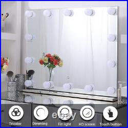 Chende Frameless Hollywood Vanity Mirror Lighted Makeup Mirror With 14 LED Bulbs