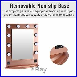 Chende Gold Vanity Lighted Hollywood Makeup Mirror with Dimmer Beauty Mirror