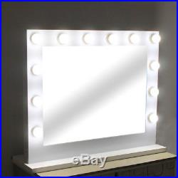 Chende Hollywood Makeup Tabletop Mirror Vanity Mirror with Light Dimmer White